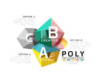 ABC infographics. Geometric low poly abstract design Royalty Free Stock Image