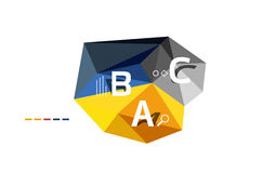 ABC infographics. Geometric low poly abstract design Royalty Free Stock Images
