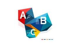 ABC infographics. Geometric low poly abstract design Stock Images