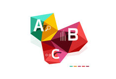 ABC infographics. Geometric low poly abstract design Stock Photo