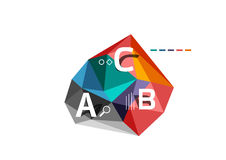 ABC infographics. Geometric low poly abstract design Stock Image