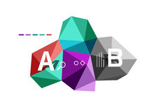 ABC infographics. Geometric low poly abstract design Royalty Free Stock Photography