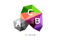 ABC infographics vector Royalty Free Stock Photography