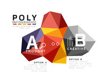 ABC infographics vector. Geometric low poly abstract design Royalty Free Stock Photo