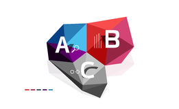 ABC infographics vector. Geometric low poly abstract design Stock Images