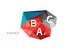 ABC infographics vector. Geometric low poly abstract design stock illustration