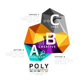 ABC infographics vector. Geometric low poly abstract design vector illustration