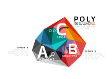 ABC infographics vector. Geometric low poly abstract design Stock Image