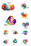 ABC infographics vector. Geometric low poly abstract design Royalty Free Stock Image