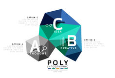 ABC infographics vector. Geometric low poly abstract design Royalty Free Stock Photography