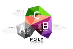 ABC infographics vector. Geometric low poly abstract design Stock Photo