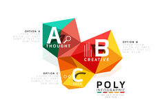 ABC infographics vector. Geometric low poly abstract design Stock Photos