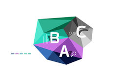 ABC infographics vector. Geometric low poly abstract design Stock Photography