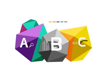 ABC infographics vector Royalty Free Stock Photo