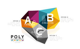 ABC infographics vector Royalty Free Stock Photos