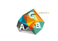 ABC infographics vector Stock Photos