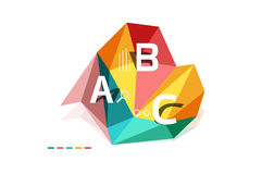 ABC infographics vector Stock Photo