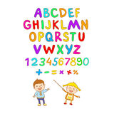 ABC for kids alphabet, illustration, vector, kids, children, fun, Royalty Free Stock Photography