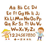 ABC for kids alphabet, illustration, vector, kids, children, fun, Royalty Free Stock Image