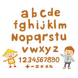 ABC for kids alphabet, illustration, vector, kids, children, fun, Royalty Free Stock Photo