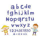 ABC for kids alphabet, illustration, vector, kids, children, fun, Stock Image