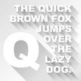 ABC largo de la sombra del vector Fotografía de archivo libre de regalías