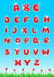 ABC Latin Alphabet. Bugs style latin alphabet for children preschool education. Vector illustration Stock Photo