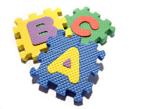ABC learning blocks Stock Photography