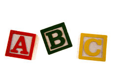 ABC learning blocks Stock Photo