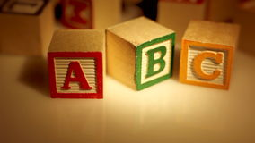 ABC Learning Blocks stock video footage