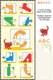 ABC learning educational puzzle Royalty Free Stock Photo