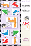 ABC learning educational puzzle - letter H (hedgehog) Royalty Free Stock Photography
