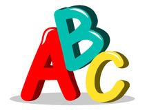 ABC learning symbols isolated. ABC illustration learning symbols isolated stock illustration