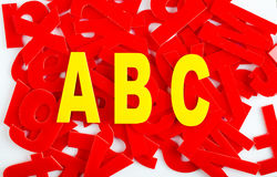 ABC letter closeup Royalty Free Stock Photography