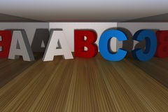 ABC letter in a room Royalty Free Stock Photo