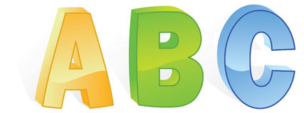 Abc letters. In vector mode Stock Photos