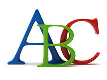 Abc letters royalty free illustration