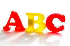 ABC letters Stock Photography