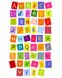 ABC letters. Colorful alphabet letters for design Stock Images