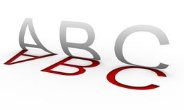 ''Abc'' letters Stock Photography