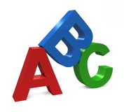 ABC Letters. Three dimensional image isolated on white Royalty Free Stock Image