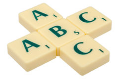 ABC Letters. A B C Letters Isolated On White Stock Image