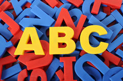 ABC letters of alphabet plastic school learning toy Stock Photography