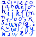 ABC. Letters of the alphabet written with a brush Royalty Free Stock Photos