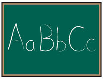 """ABC letters on Chalkboard. Chalkboard with the letters """"AaBbCc"""" written on it vector illustration"""