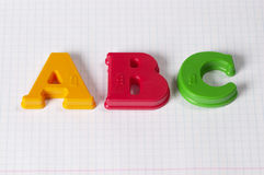 ABC letters Royalty Free Stock Images