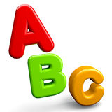ABC Letters. Education concept abc colorful letters Royalty Free Stock Photo