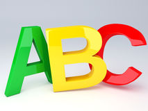 ABC Letters.  Education concept. 3d illustration Royalty Free Stock Image
