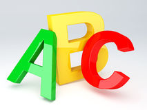 ABC Letters.  Education concept. 3d illustration Royalty Free Stock Images