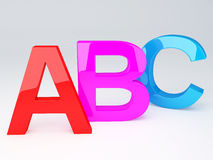 ABC Letters.  Education concept. 3d illustration Stock Image